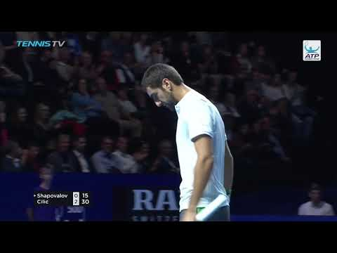 Hot Shot: Cilic Tees Off On Forehand In Basel 2018