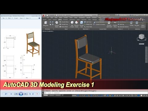 autocad-3d-modeling-|-chair-tutorial-|-exercise-1