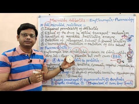chemotherapy-of-antibiotics-(part-13)=-macrolides-(erythromycin--02)-=-resistance-(hindi)