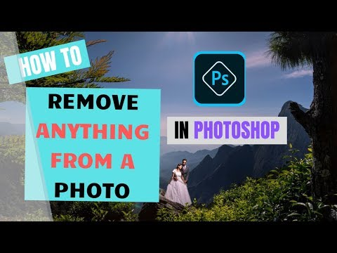 HOW TO REMOVE ANYTHING FROM A PHOTO , PHOTOSHOP TUTORIAL thumbnail