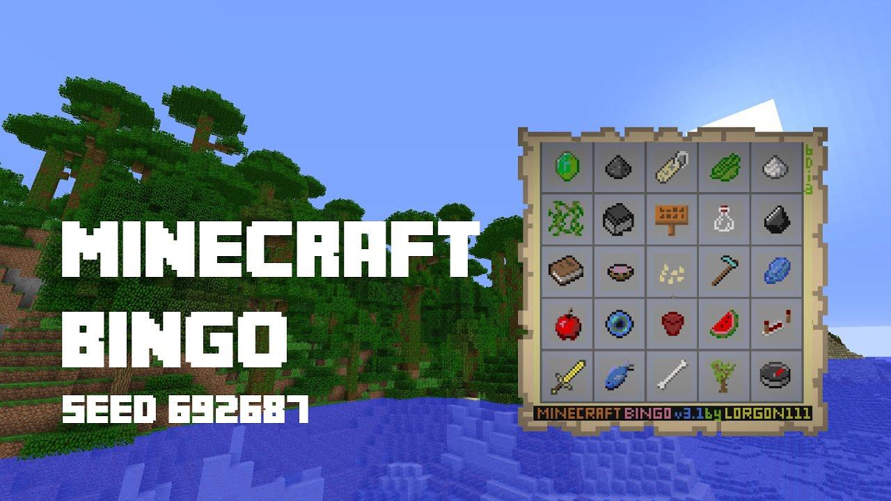 Minecraft Bingo 3 1 Seed 692687 Youtube