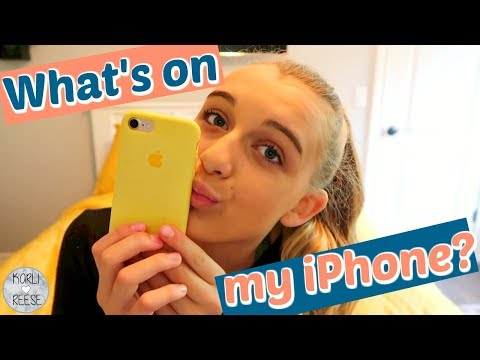 WHAT'S ON MY iPHONE?