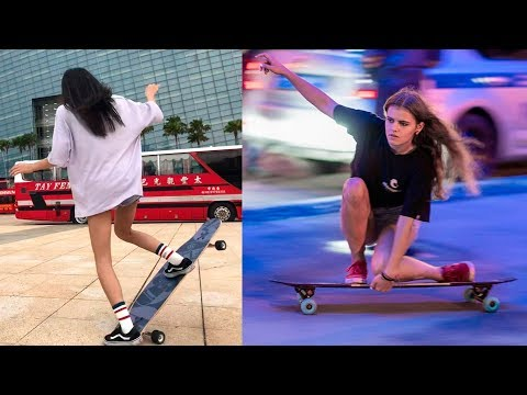 Best Longboarding Skills Musically Compilation 2018 - Longboard Girls Dance