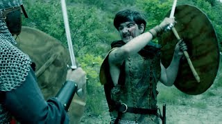 Macbeth Fights Young Siward: Brutal Sword and Shield Fight