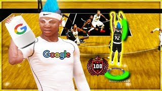 GOOGLE PICKS MY JUMPSHOT IN NBA 2K19.. I SCORED 100 POINTS..? nba 2k19 rec center