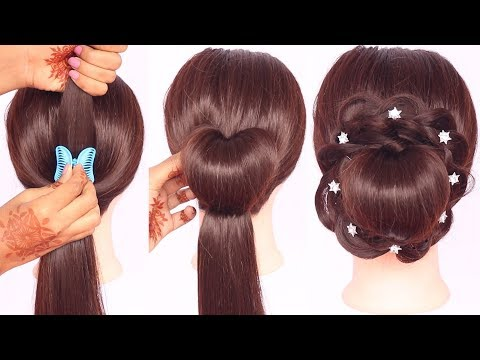 new latest hairstyle using clutcher || easy hairstyles || hairstyles for girls || ladies hair style thumbnail