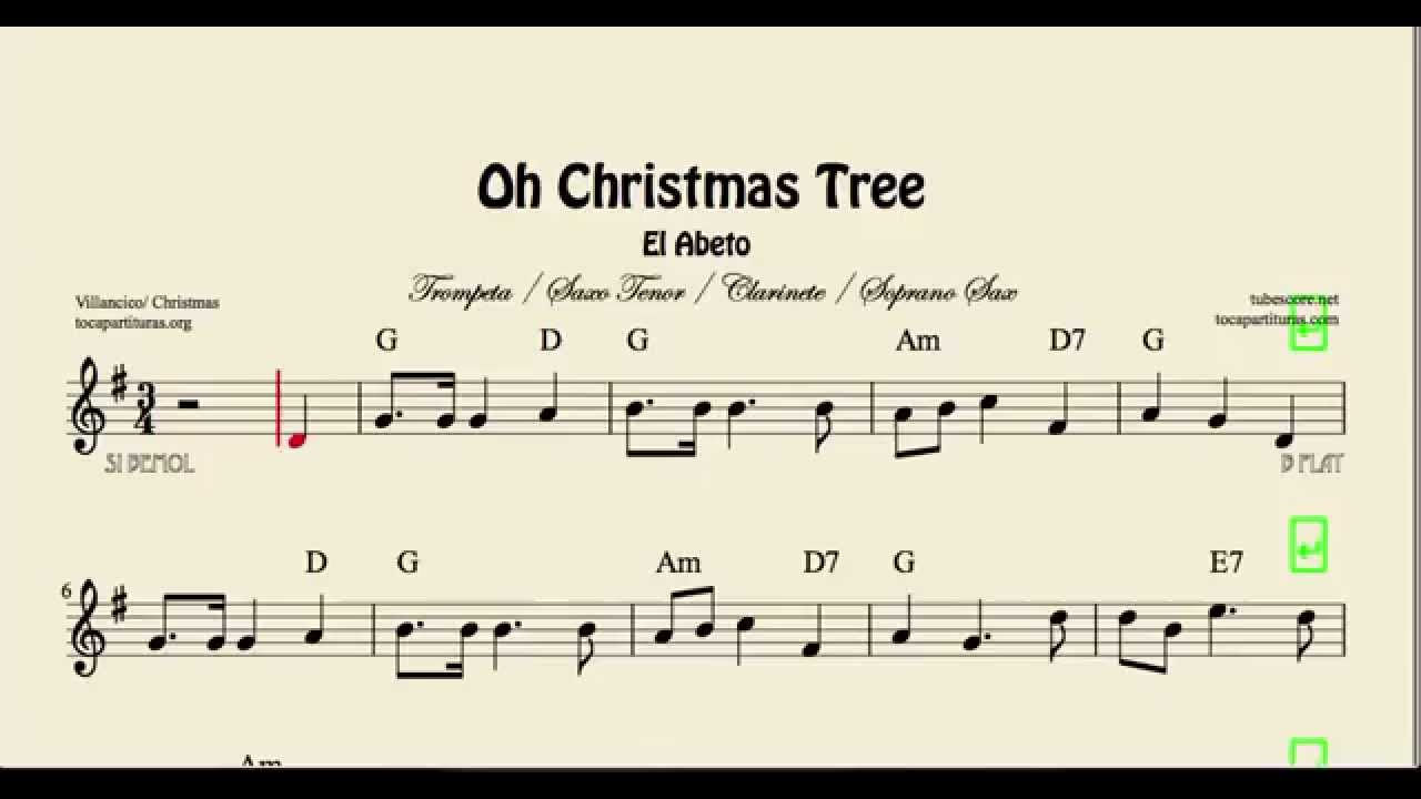 Oh Christmas Tree Sheet Music for Trumpet Clarinet Tenor and Soprano ...