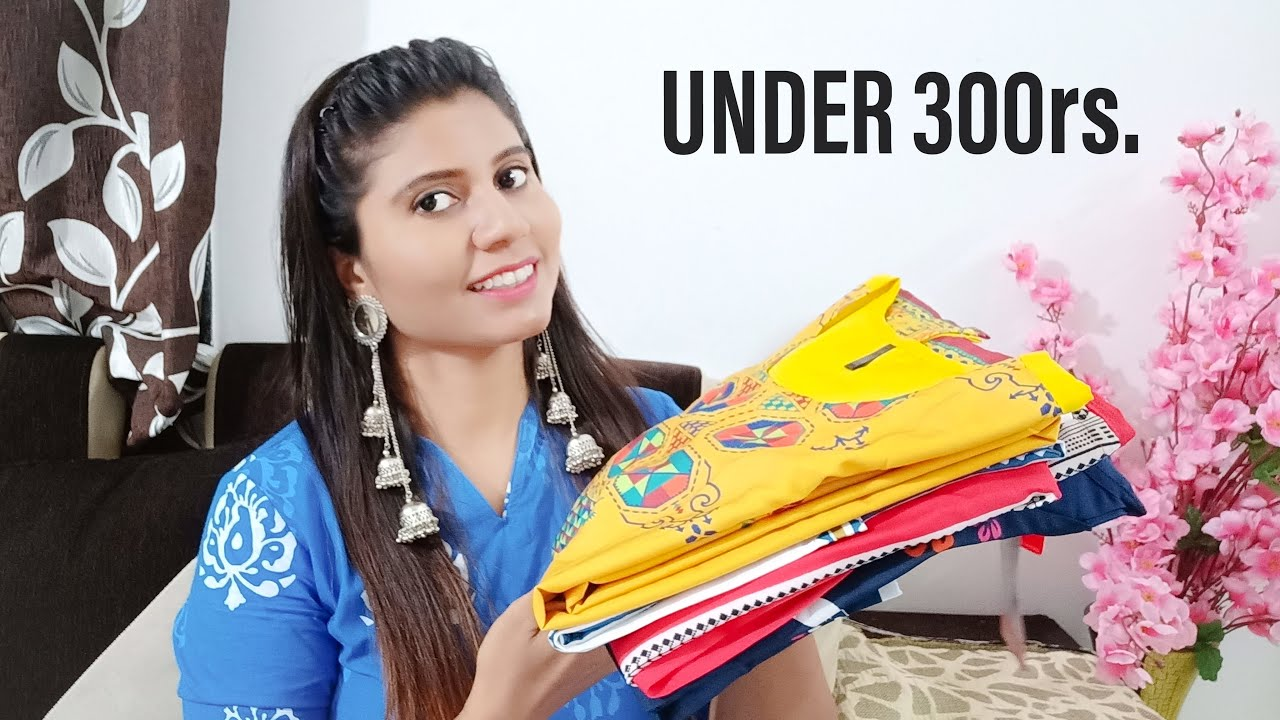 Amazon kurti haul under 300rs. / Casual, Office and Daily wear Kurtis / Indian Mom Kanchan