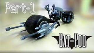 (How To) Make Bat-Pod / Bat-bike model that Turns (PART 1)| From The Dark Knight series