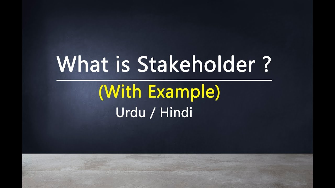 stakeholder definition Einheit hindi