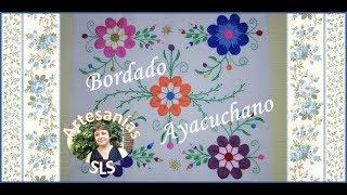 bordado mexicano almohadn floreado