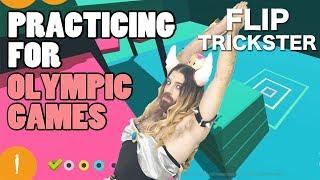 ビアちゃんがオリンピックに参加したいので Flip Tricksterゲームを遊び...