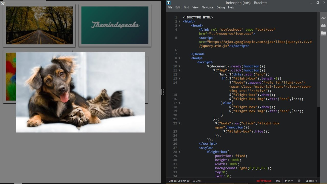 Responsive Lightbox Using HTMLCSS and JQuery - TheMindSpeaks & Responsive Lightbox Using HTMLCSS and JQuery - TheMindSpeaks ... Aboutintivar.Com