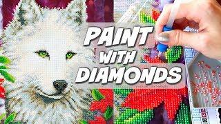 PAINTING WITH DIAMONDS?! Diamond Dotz Demo & Review | SoCraftastic