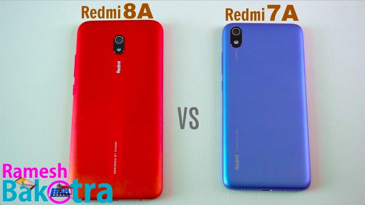 Redmi 8A vs 7A SpeedTest and Camera Comparison