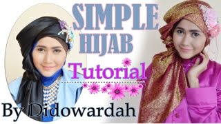 Simple Hijab Tutorial Segi Empat by Didowardah #62