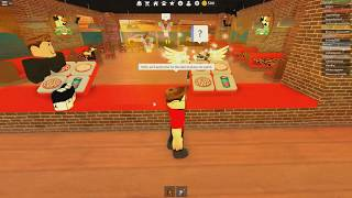 ROBLOX: I WENT TO WORK IN A PIZZERIA AND MADE A LOT OF MESS! (Work at a Pizza Place)