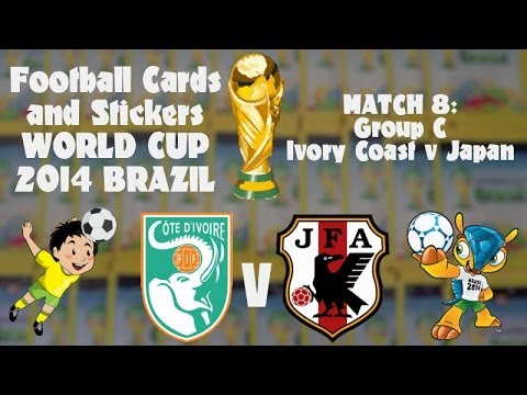 FOOTBALL CARDS & STICKERS WORLD CUP 2014 ☆ MATCH8 IVORY COAST v JAPAN ☆ panini sticker packs opening