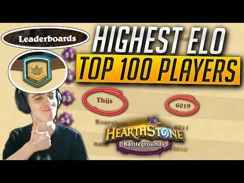 TOP 100 European Lobbies! | How The HIGHEST SKILLED ELO Players Play Hearthstone Battlegrounds!