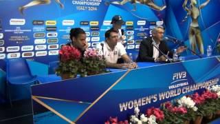 01-10-2014: Press Conference post DOM-BEL Gert Vande Broek (coach Belgium)