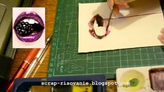 Как рисовать губы акварелью(Больше видео-уроков по ссылке: http://lenochek.justclick.ru/ad/5075/, 2012-08-09T11:15:45.000Z)