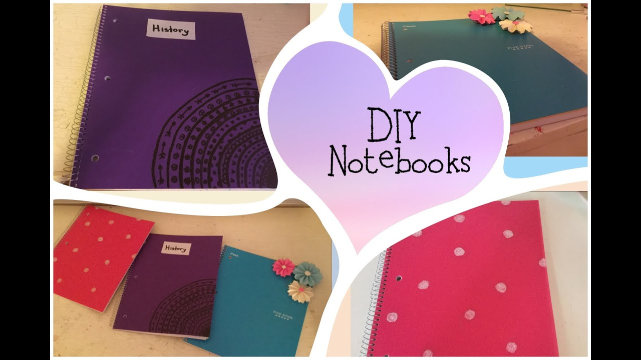 3 easy decorating notebook ideas diy school supplies for Back to school notebook decoration ideas