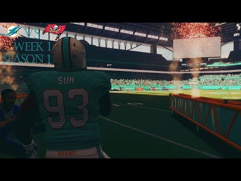 Madden 18 Dolphins Franchise: Week 1 vs Buccaneers Season 1
