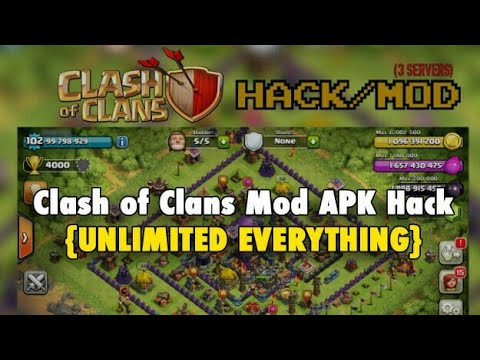 Clash Of Clans Mod APK Hack {UNLIMITED EVERYTHING} - By CWK [Download Link In Description]