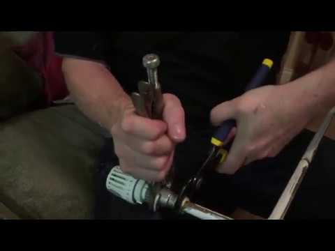 How to remove a trv radiator valve using irwin vise grip