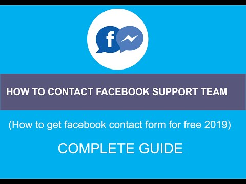 How To Contact Facebook Support Team (How To Get Facebook Contact Form For Free 2019)