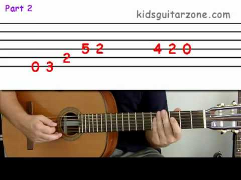 Guitar lesson 4B : Beginner -- 'Beat it' on three strings