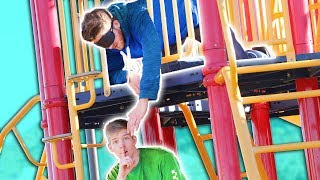 "Blind ""Hide and Seek"" on a 3 Story Playground!!"
