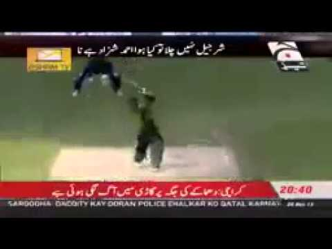 ▶ ▶ Pakistan vs Sri Lanka 2nd ODI Dubai 20 Dec 2013 Ahmed Shehzad Sharjeel Khan Sixe Travel Video