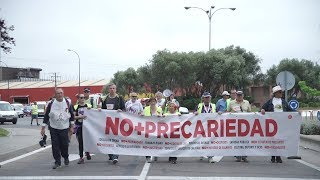Recibimiento a las Marchas contra la Precariedad