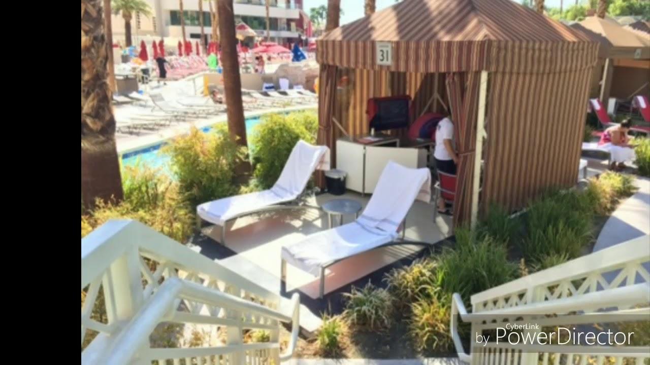 Delano Beach Club Cabanas Madalay Bay Las Vegas 2017