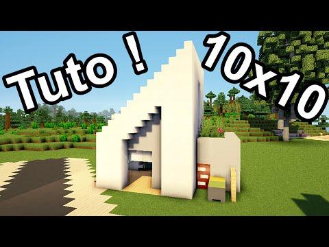 Minecraft tuto construction d 39 une petite maison moder for Tuto maison moderne nox x