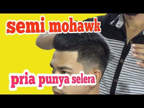 Gaya rambut semi mohawk - YouTube