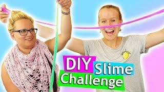 DIY Slime Challenge | Flaschenschleim Kathi vs Eva| Wer ist schneller? Wer macht den besseren Slime?