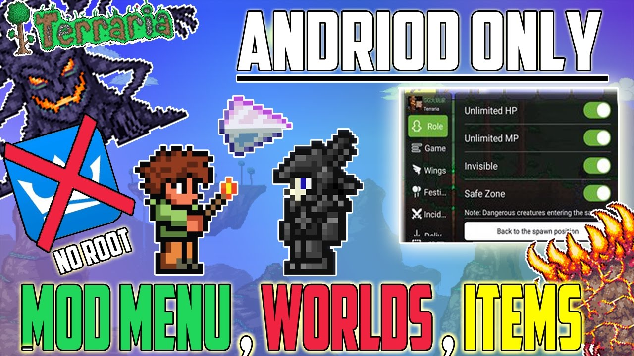 HOW TO GET A MOD MENU FOR TERRARIA ANDRIOD (Non-Rooted) Full Tutorial!