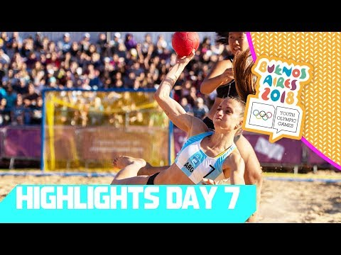 Beach Handball medals go to Spain and Argenina | YOG 2018 Day 7 | Top Moments