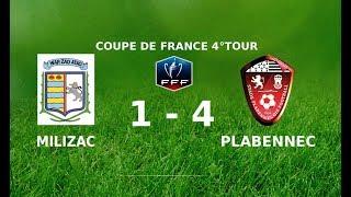 Coupe de France  Milizac - Plabennec (1-4), les buts