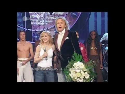Madonna Hung Up live at Wetten Dass November 2005 Mannheim Germany