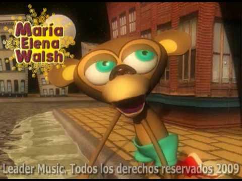 María Elena Walsh El Twist Del Mono Liso Youtube