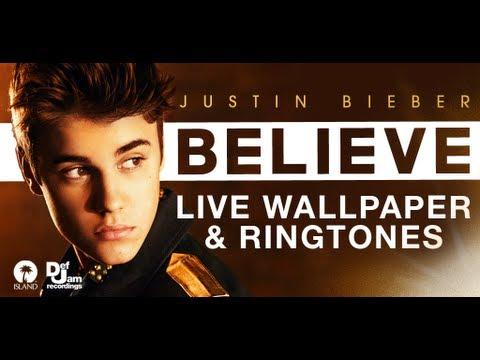 Justin Bieber Live Wallpaper Demo - YouTube