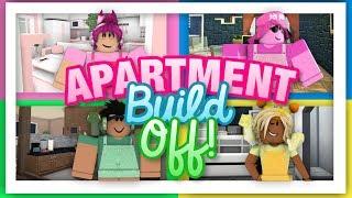 Huge Apartment Build Off || Bloxburg Youtubers
