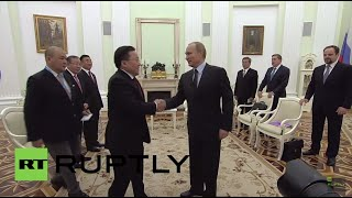 Russia: Putin meets with Mongolian President Elbegdorj ahead of V-Day celebrations