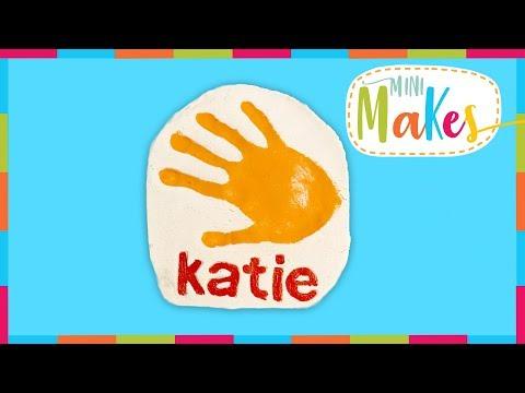 How to Make a Salt Dough Hand Print Tile   Mini Makes   Arts and Crafts
