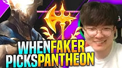 FAKER Shows the POWER of PANTHEON MID! - SKT T1 Faker Plays Pantheon vs Syndra Mid! | Patch 9.24