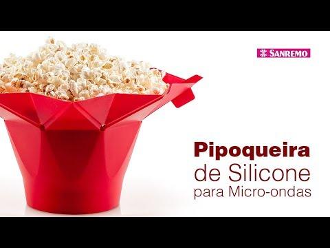 Pipoqueira de silicone para micro-ondas - Sanremo