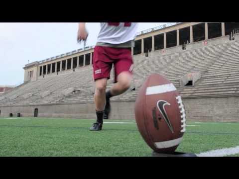 Harvard's David Mothander Demonstrates the Art of the Placekick
